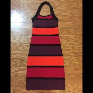 Express striped body con dress XS